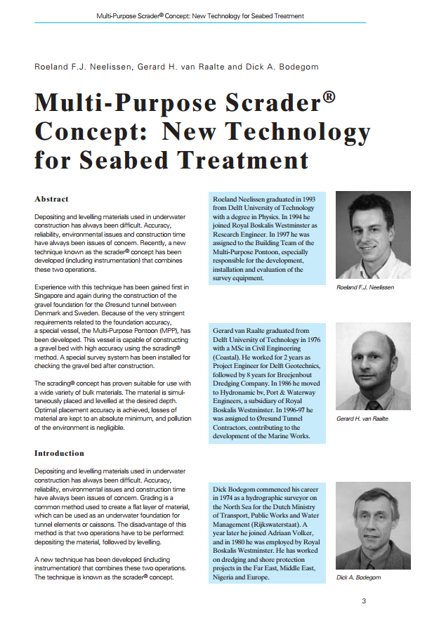 Multi-Purpose Scrader® Concept: New Technology for Seabed Treatment