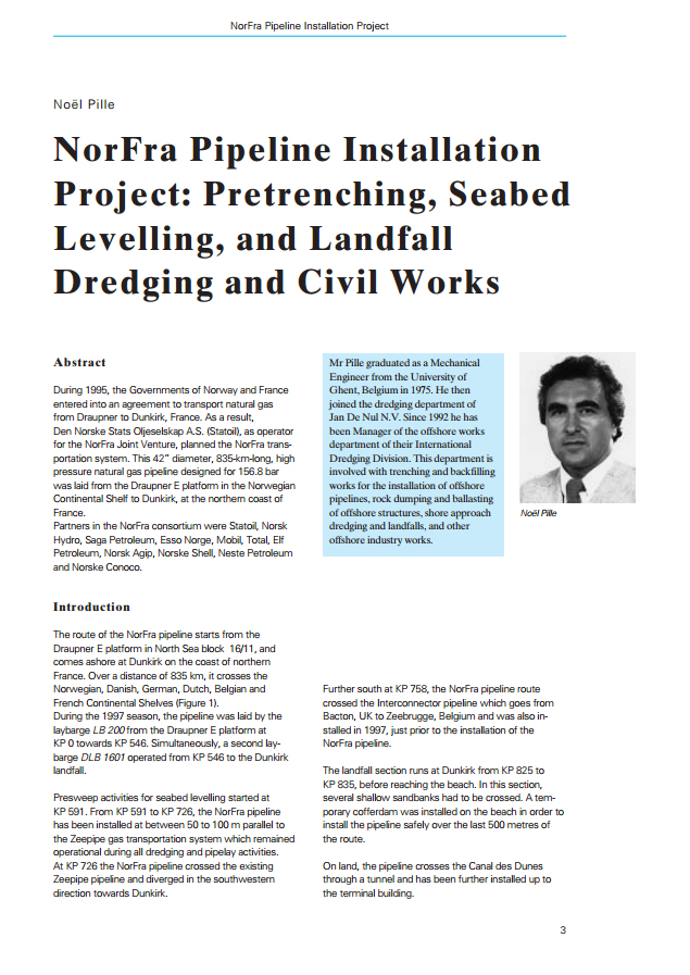 NorFra Pipeline Installation Project: Pretrenching, Seabed Levelling, and Landfall Dredging and Civi