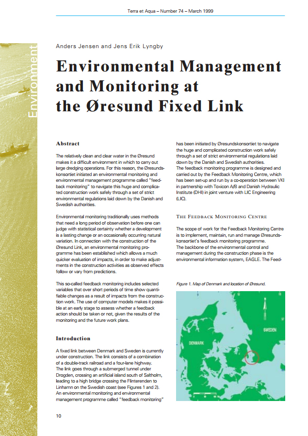 Environmental Management and Monitoring at the Øresund Fixed Link