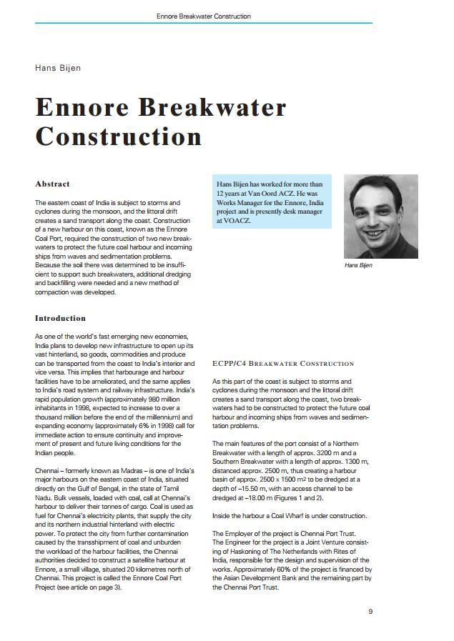 Ennore Breakwater Construction