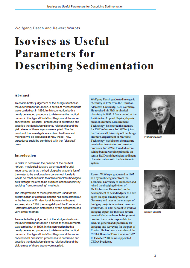 Isoviscs as Useful Parameters for Describing Sedimentation
