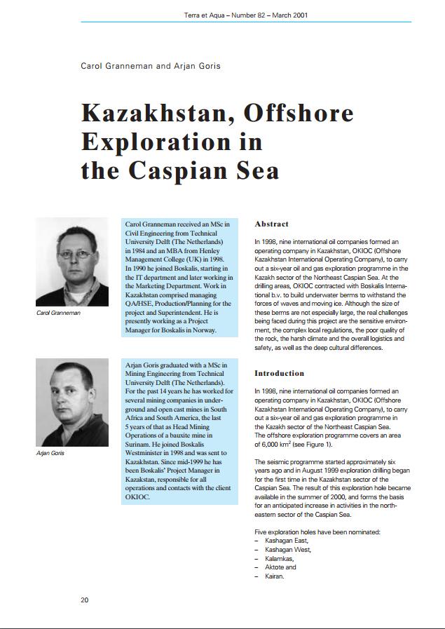 Kazakhstan, Offshore Exploration in the Caspian Sea