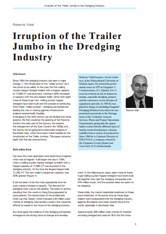 Irruption of the Trailer Jumbo in the Dredging Industry