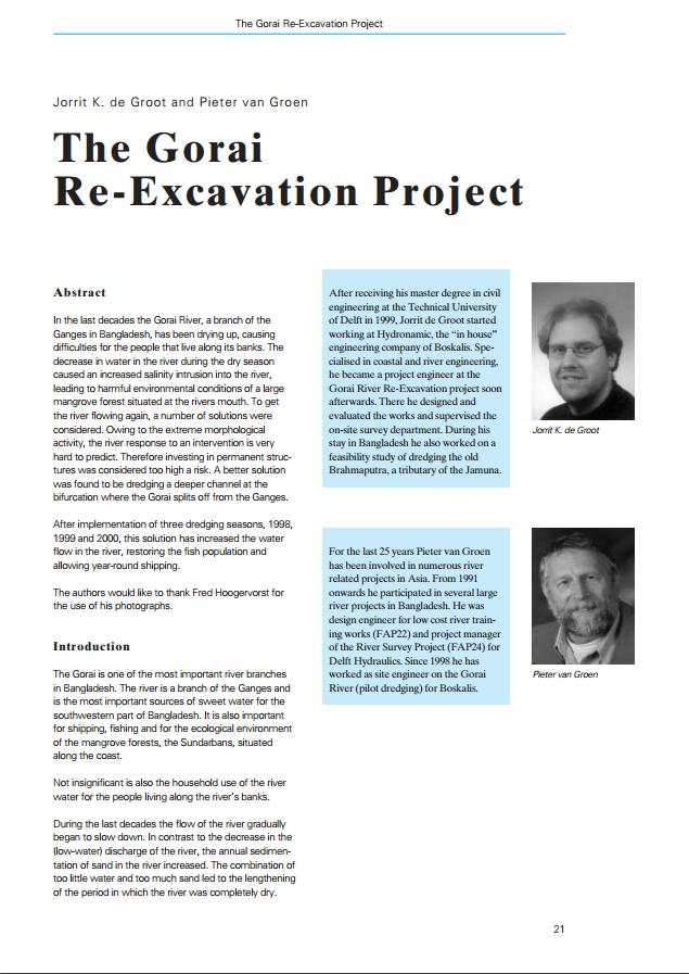 The Gorai Re-Excavation Project