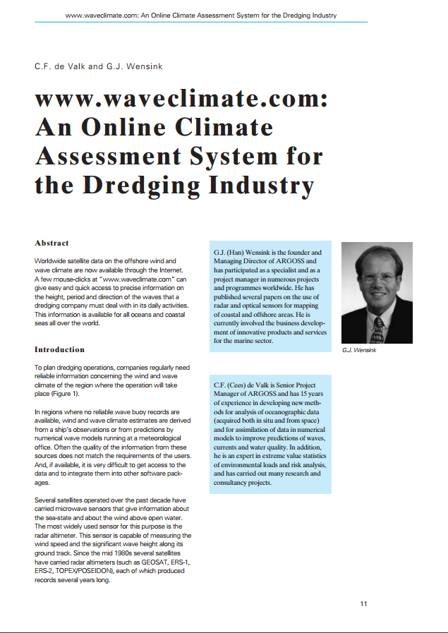 www.waveclimate.com: An Online Climate Assessment System for the Dredging Industry