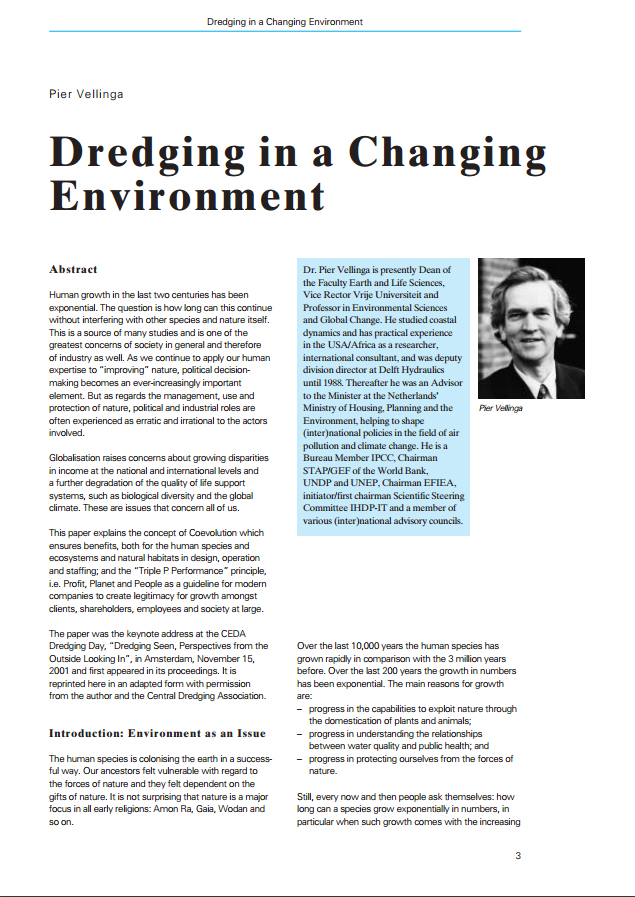 Dredging in a Changing Environment