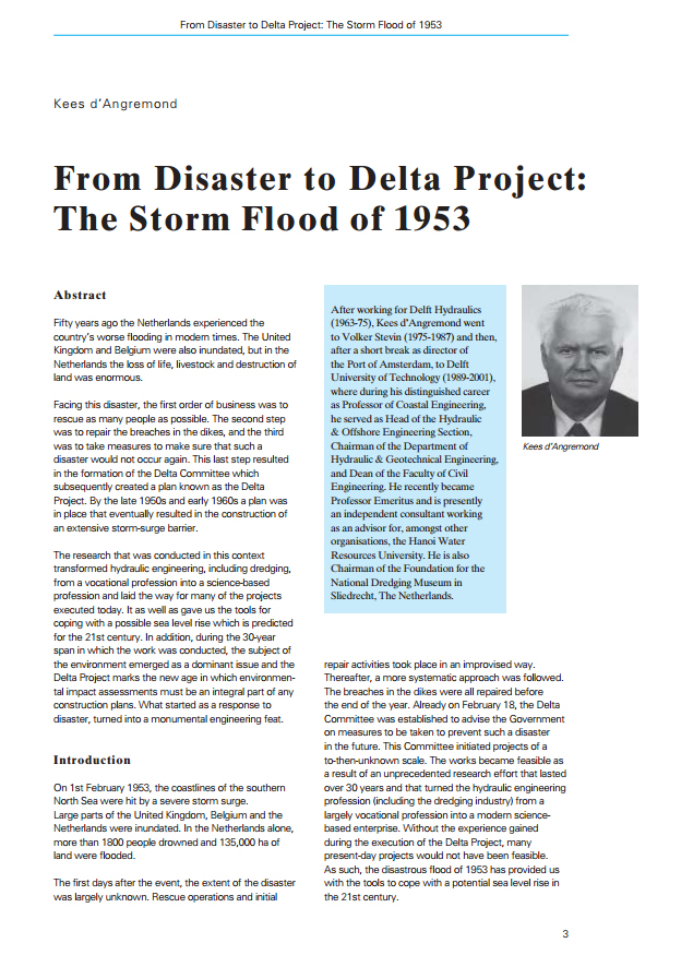 From Disaster to Delta Project: The Storm Flood of 1953