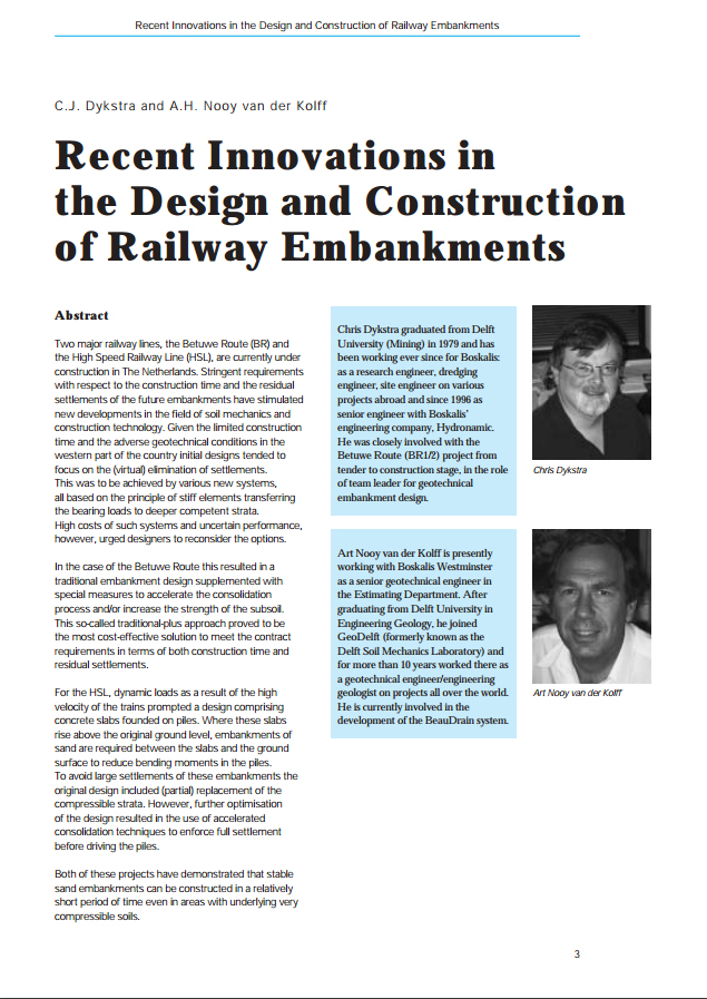 Recent Innovations in the Design and Construction of Railway Embankments.