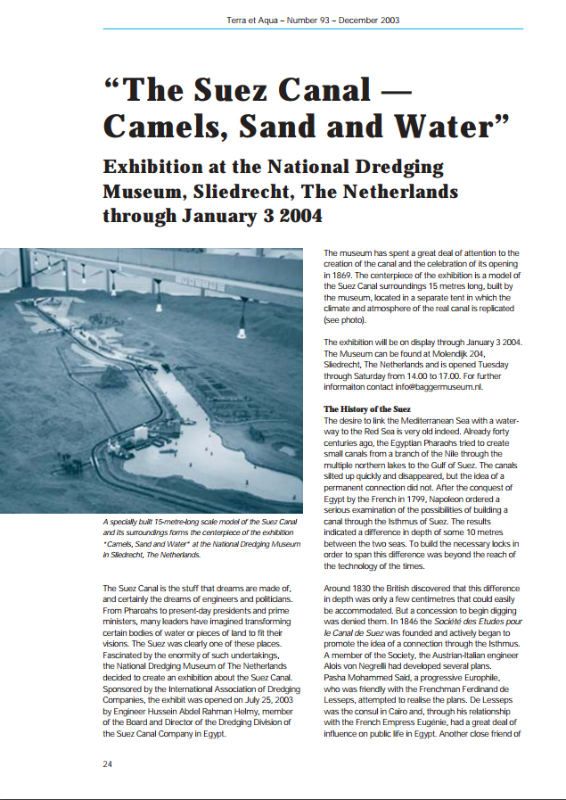 The Suez Canal - Camels, Sand and Water""