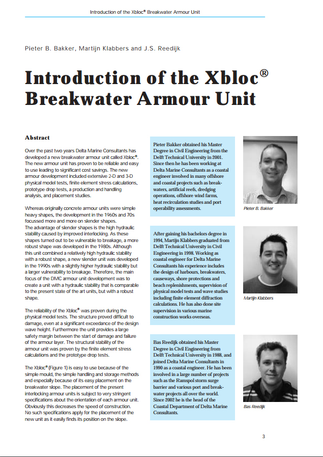 Introduction of the Xbloc® Breakwater Armour Unit