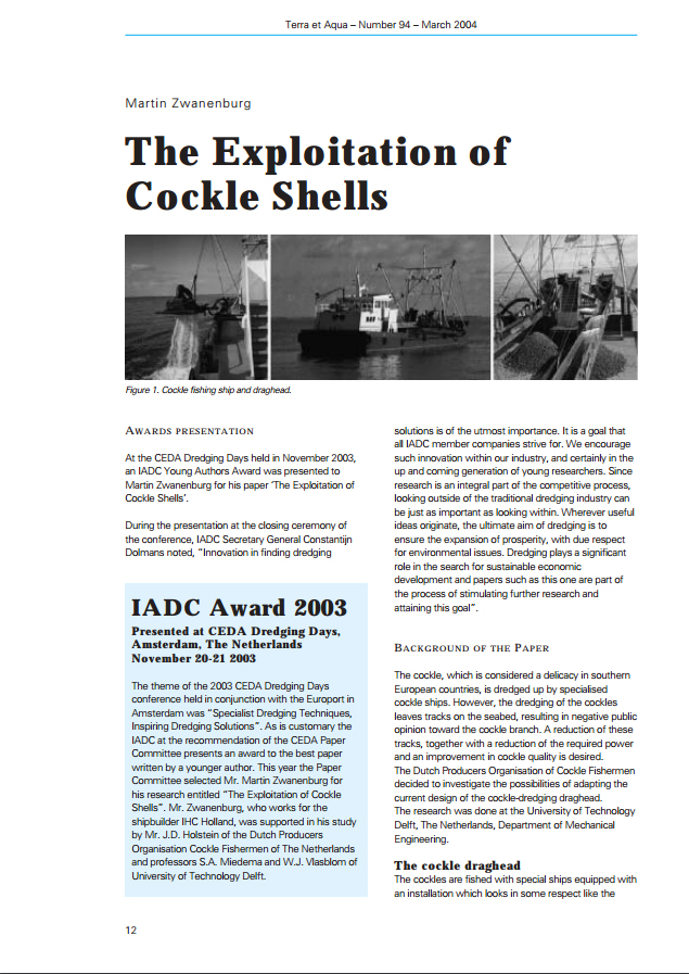 The Exploitation of Cockle Shells
