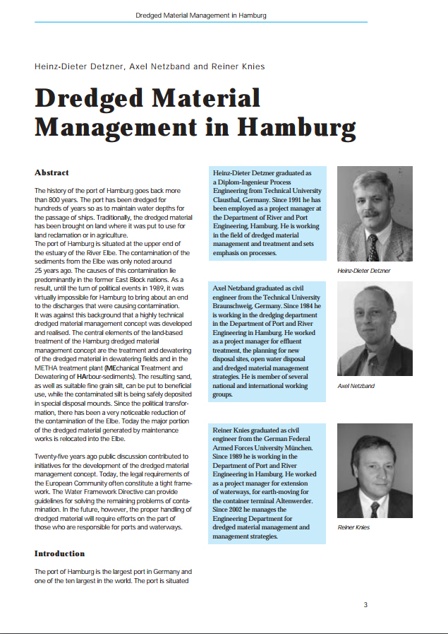 Dredged Material Management in Hamburg