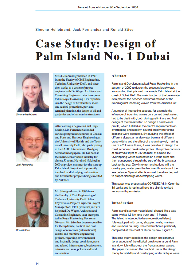 Case Study: Design of Palm Island No. 1 Dubai