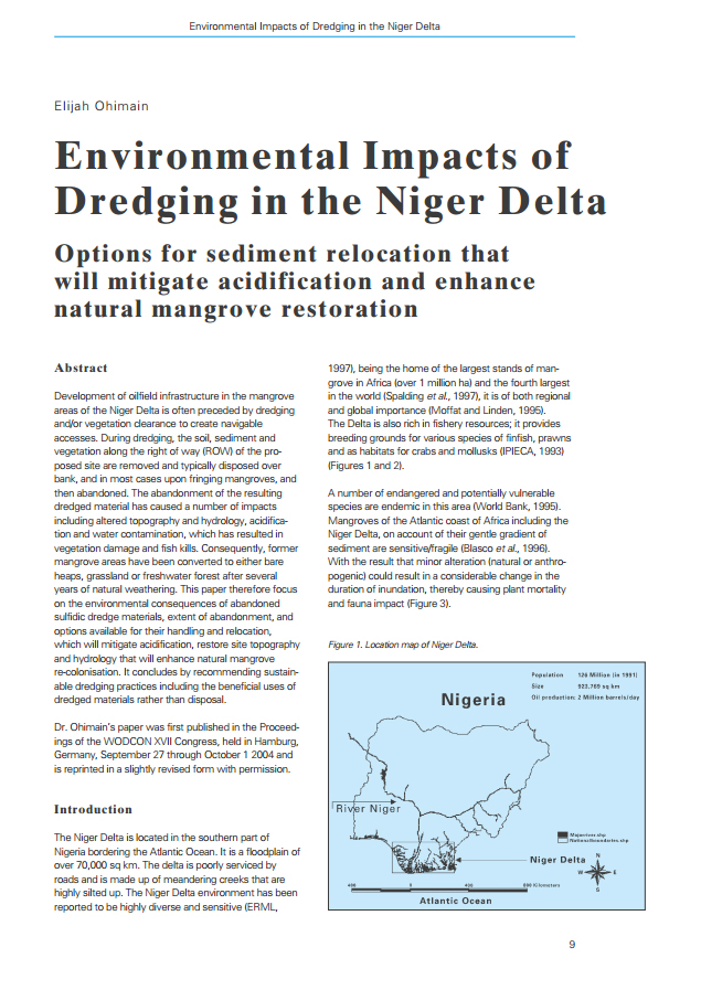 Environmental Impacts of Dredging in the Niger Delta