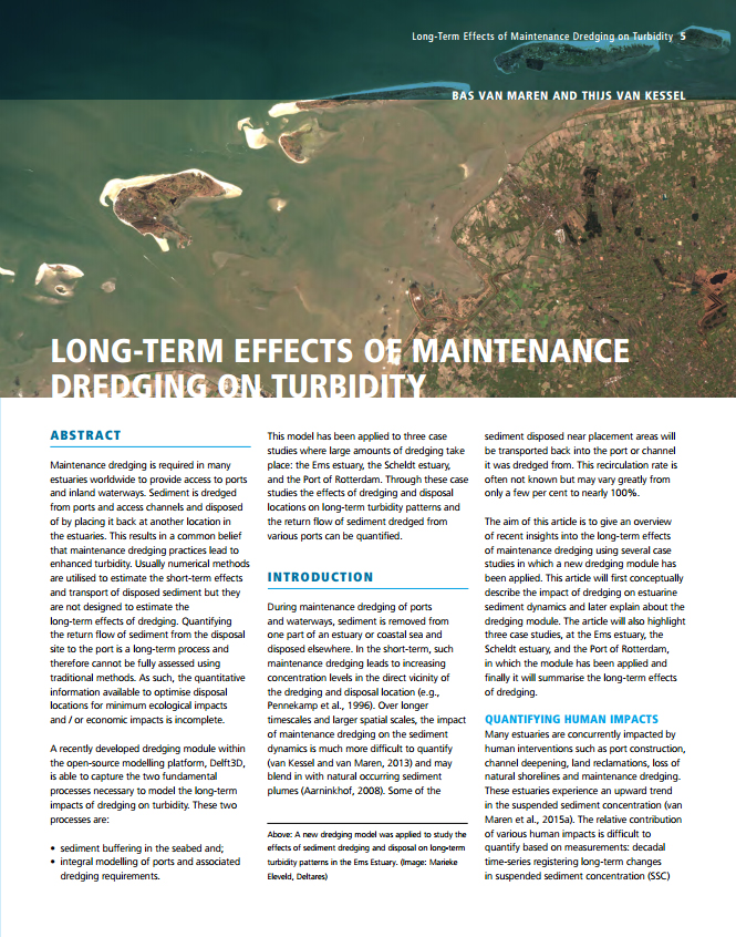 Long-Term Effects of Maintenance Dredging on Turbidity
