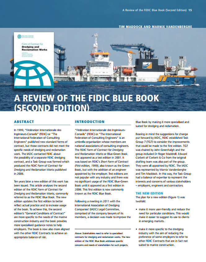 A Review of the FIDIC Blue Book (Second Edition)