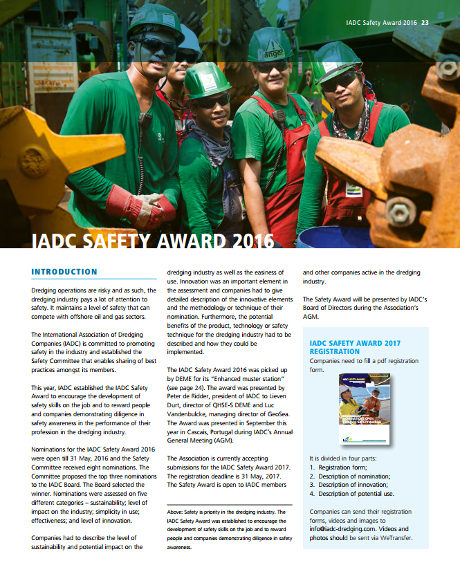 IADC Safety Award 2016