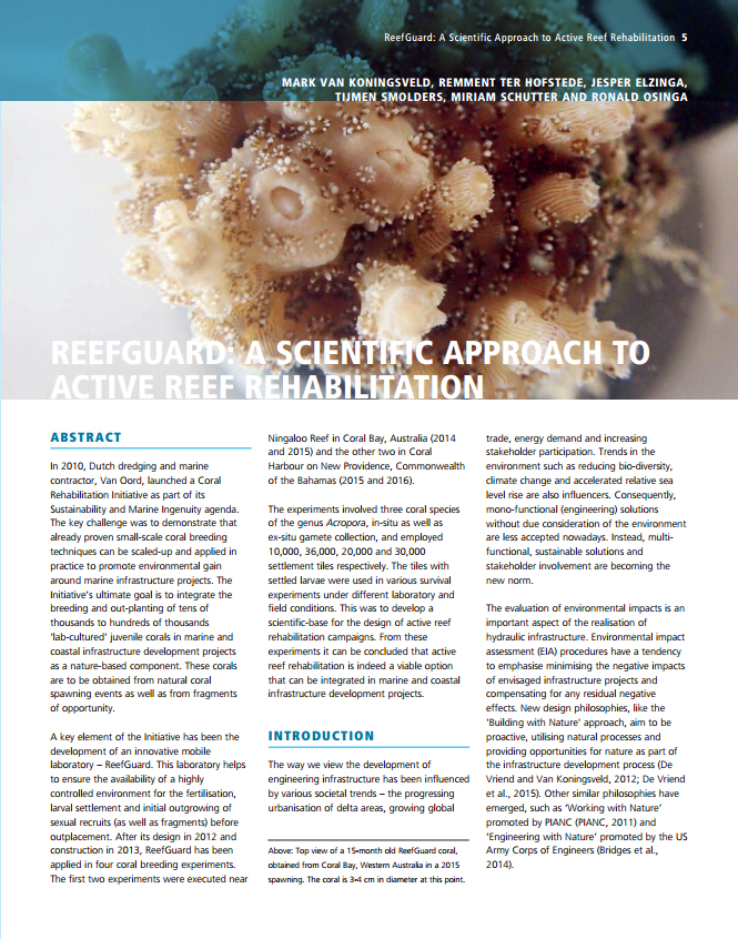 ReefGuard: A Scientific Approach to Active Reef Rehabilitation