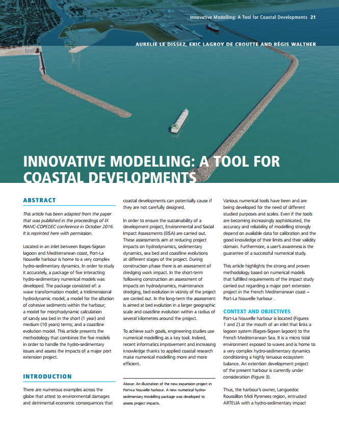 Innovative Modelling: A Tool for Coastal Developments