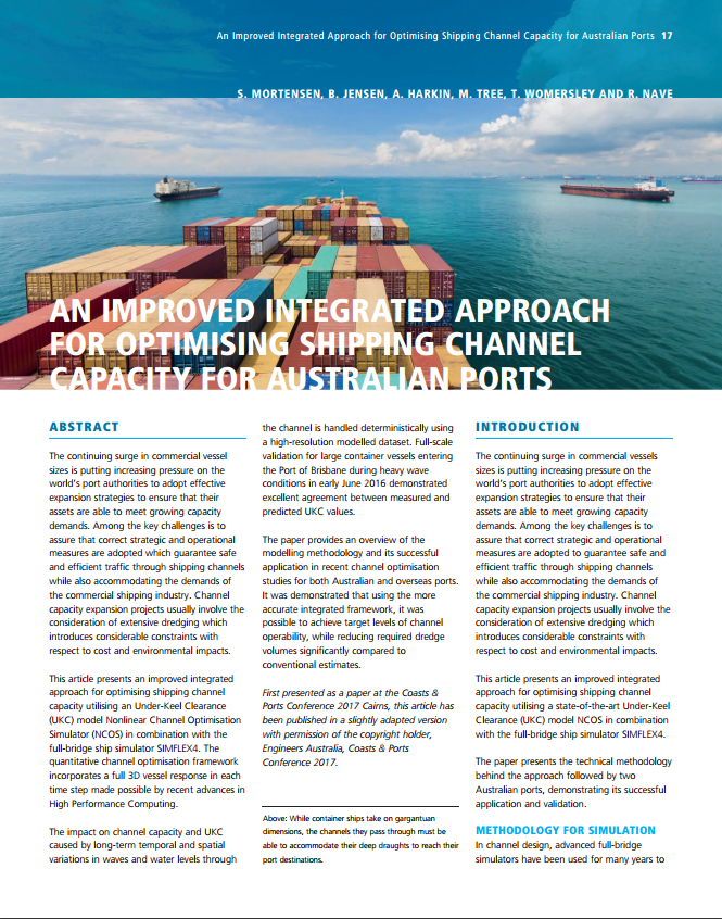 An Improved Integrated Approach for Optimising Shipping Channel Capacity for Australian Ports