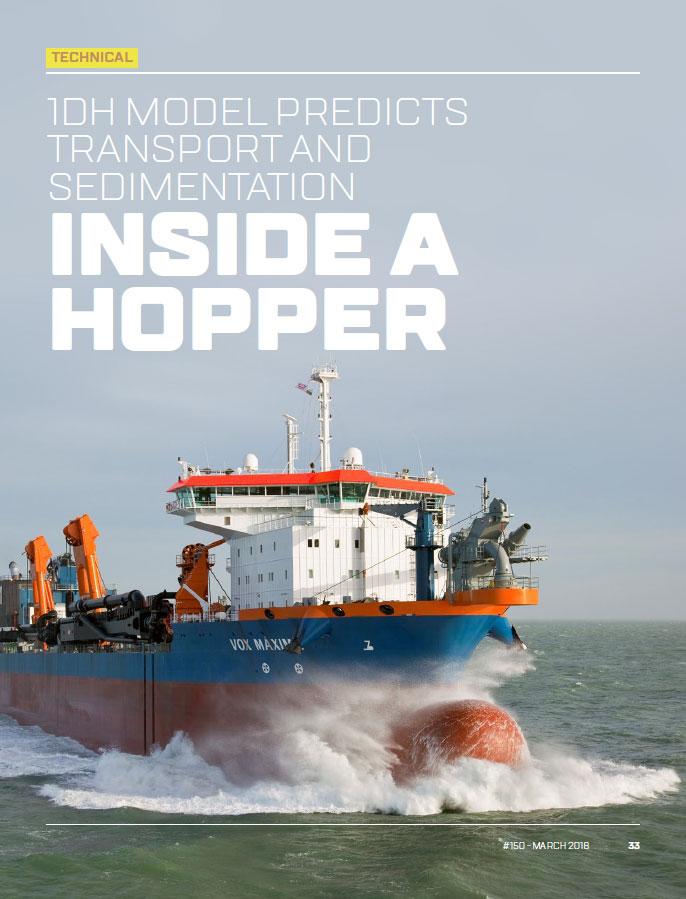 1DH Model Predicts Transport and Sedimentation Inside a Hopper