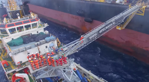 Safe transfer of personnel at sea