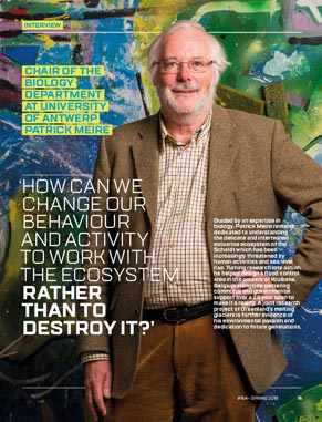 Interview Patrick Meire - 'We must try to use the best of the science to manage the environment.'